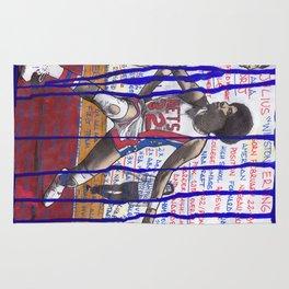 NBA PLAYERS - Julius Erving Rug