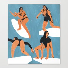 Surf Girls Canvas Print