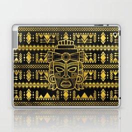 Gold  Aztec Inca Mayan Mask Laptop & iPad Skin