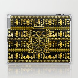 Gold  Aztec Inca Mayan Mask Laptop & iPad Skin