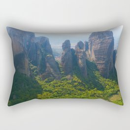 Meditation up to Meteora | Greece | Nature Rectangular Pillow