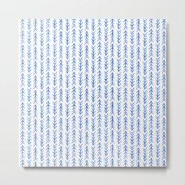 Watercolour Arrow Pattern Metal Print