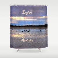 australia Shower Curtains featuring Explore Australia by Chris' Landscape Images & Designs