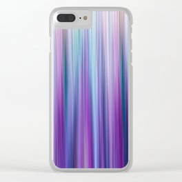 Abstract Purple and Teal Gradient Stripes Pattern Clear iPhone Case