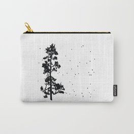 Pine Tree Flock in Bend, Oregon by Seasons K Designs Carry-All Pouch