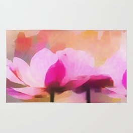 Anemone abstract hand painted Rug
