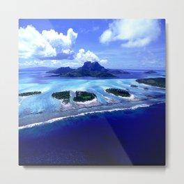 Bora Bora Island Tropical Paradise Metal Print
