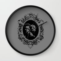 danny ivan Wall Clocks featuring Danny by Micah Lee