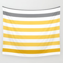 Stripes Gradient - Yellow Wall Tapestry