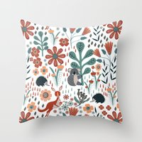 australia Throw Pillows featuring Australia by Mel Armstrong