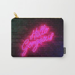 Hello Gorgeous - Neon Sign Carry-All Pouch