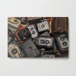 A Mess Of Old Cameras 2 Metal Print