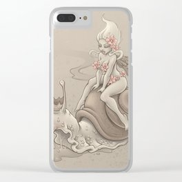 Snail Prince Clear iPhone Case