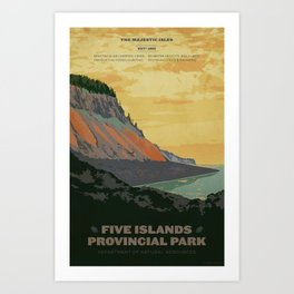 Five Islands Provincial Park Poster Art Print