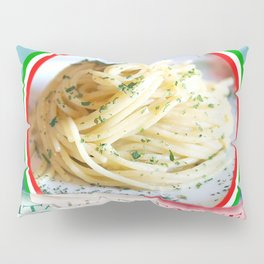 Food. Rolled spaghetti. Italian taste. Pillow Sham