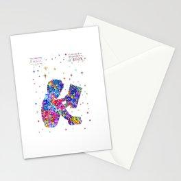 Reader boy Stationery Cards