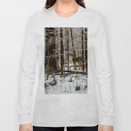 Deer in the Glistening Forest by Teresa Thompson Long Sleeve T-shirt