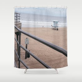 The Rails of Sand Shower Curtain
