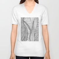 quilt V-neck T-shirts featuring Quilt Design by neena