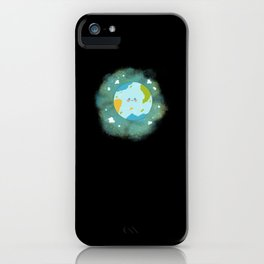 Happy Planet Cheerful Earth Climate Change iPhone Case
