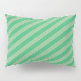 Dark Sea Green & Sea Green Colored Stripes Pattern Pillow Sham