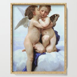 William-Adolphe Bouguereau - Amor And Psyche, Children - Digital Remastered Edition Serving Tray