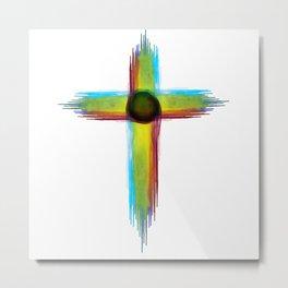 Cross Watercolor Design Metal Print