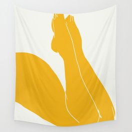 Nude in yellow 3 Wall Tapestry