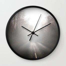 Foggy Roads Wall Clock