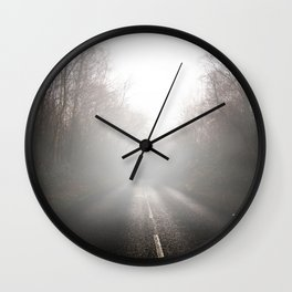 Foggy Roads Wall Clock