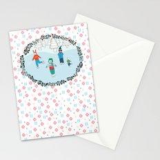 Ice Skating Animals Stationery Cards