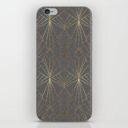 Art Deco in Gold & Grey iPhone Skin