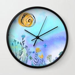Blue Garden II Wall Clock