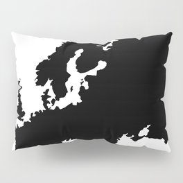 map of Europe Pillow Sham