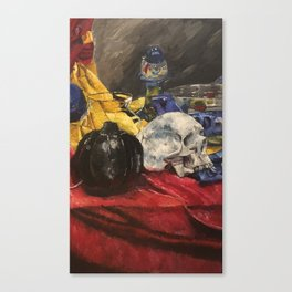 Skull still life 2 Canvas Print