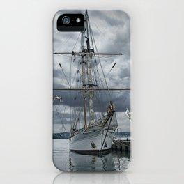 Schooner in Halifax Harbor iPhone Case