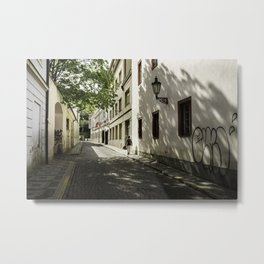 A quiet Prague street Metal Print