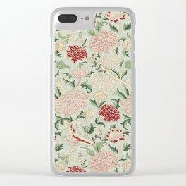 William Morris Cray Floral Pre-Raphaelite Vintage Art Nouveau Pattern Clear iPhone Case