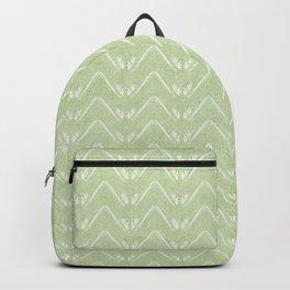 Nappy Faux Velvet Petal Chevron in Lime Green Backpack