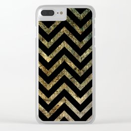 Brass Chevrons Clear iPhone Case