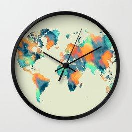 map world map 57 Wall Clock