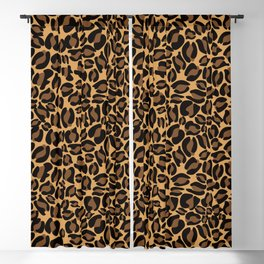 Leopard Print | Cheetah texture pattern Blackout Curtain