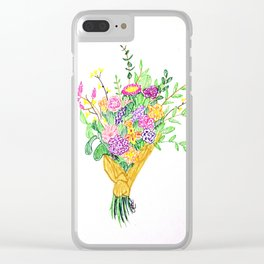 Bouquet of flowers Clear iPhone Case