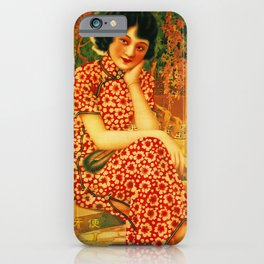 Vintage Chinese Cosmetic Advertisement iPhone Case
