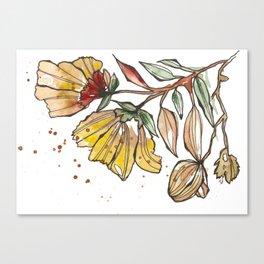 Golden Bloom Canvas Print