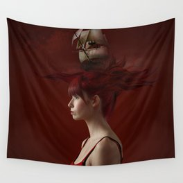 Sailing - Red Wall Tapestry