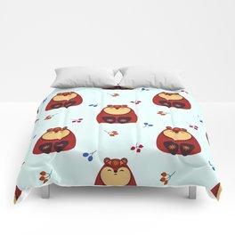 Folkloric Christmas Brown Bear Comforters
