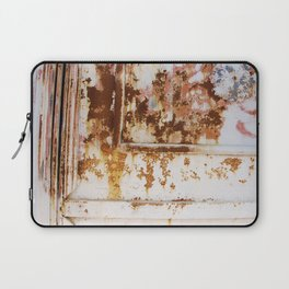Rust and white paint Laptop Sleeve