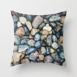 Sea Pebbles Throw Pillow