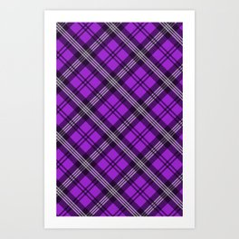 Scottish Plaid (Tartan) - Purple Art Print
